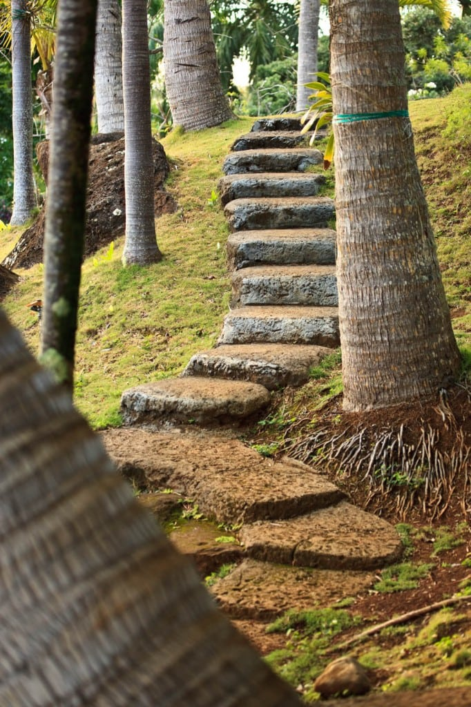 Romantic steps . . .